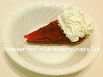Glazed Strawberry Pie Slice