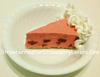 Strawberry Chiffon Pie Slice