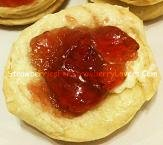 Strawberry Jelly On A Biscuit