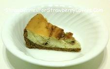 Strawberry Swirl Cheesecake Slice