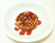 Strawberry Syrup on Strawberry Waffles